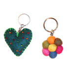 Felt Keyrings, Felt craft, Nepal Felt, wool, felt products, felt shoes, kathmandu, felt products from Nepal